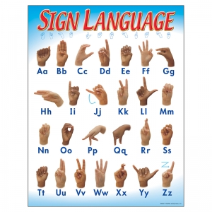 CHART SIGN LANGUAGE 17 X 22 GR 1-2