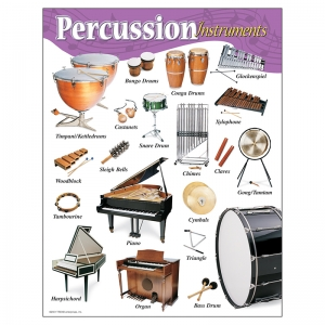 CHART PERCUSSION INSTRUMENTS GR K-8  17 X 22