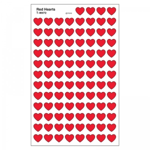 SUPERSHAPES STICKERS RED HEARTS