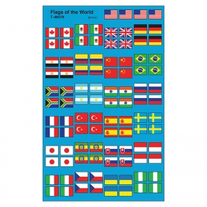 FLAGS OF THE WORLD SUPERSHAPE  SUPERSPOTS/SHAPES STICKERS