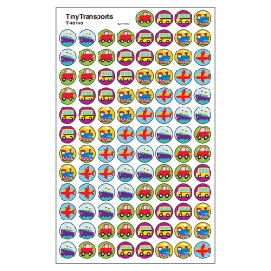 SUPERSPOTS STICKERS TINY TRANSPORT