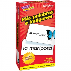FLASH CARDS MAS PALABRAS E 96/BOX  IMAGENES