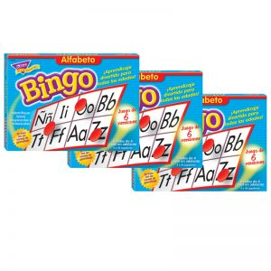 Alfabeto (Spanish) Bingo Game, Pack of 3