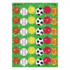 Star Sports Sparkle Stickers, 72 ct