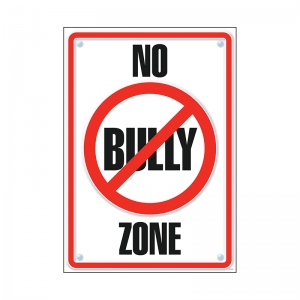 POSTER NO BULLY ZONE 13 X 19