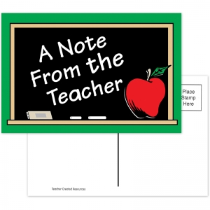 A NOTE FROM THE TEACHER 30PK  POSTCARDS 4X6