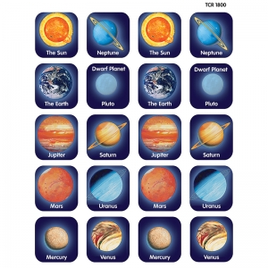 PLANETS THEMATIC STICKERS