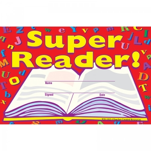 SUPER READER AWARDS 25PK  8-1/2 X 5-1/2