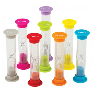 SMALL SAND TIMERS COMBO 8 PK