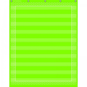LIME POLKA DOTS 10 POCKET CHART