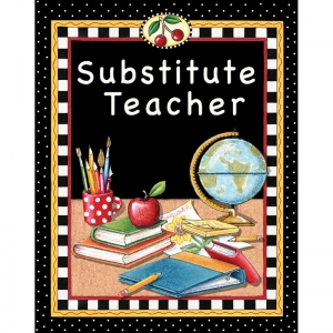 SUBSTITUTE TEACHER POCKET FOLDER