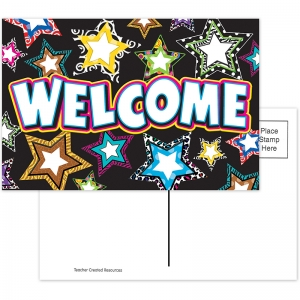FANCY STARS WELCOME POSTCARDS