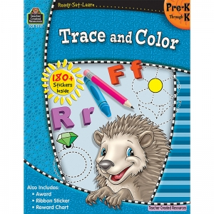 READY SET LEARN TRACE AND COLOR  GR PK-K