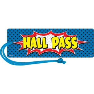SUPERHERO MAGNETIC HALL PASS