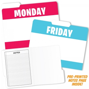 DAY OF THE WEEK DESIGN FILE FOLDERS
