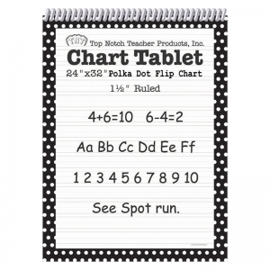POLKA DOT CHART TABLET BLACK 1.5  RULED