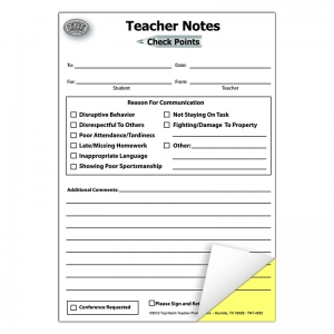 TEACHER NOTES CHECK POINTS BOOKLET