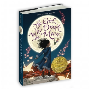THE GIRL WHO DRANK THE MOON HARD  COVER