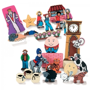 NURSERY RHYME WOODEN FIGURES