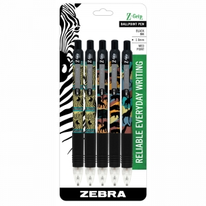 Z GRIP SAFARI 5PK RETRACTABLE PENS