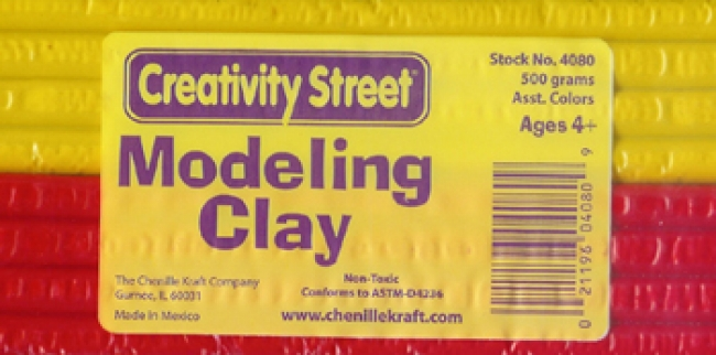 EXRUDED MODELING CLAY 6 ASSTD CLRS