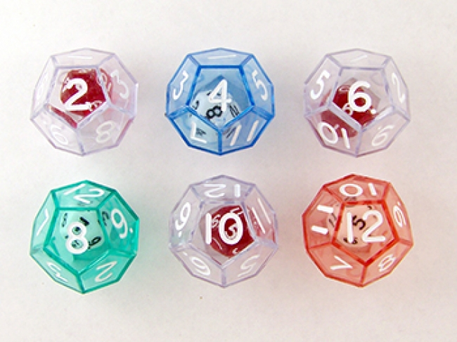 12-SIDED DICE SET OF 6