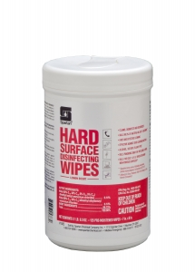 Hard Surface Disinfecting Wipes Lemon Scent - 125 Wipes 6/Case