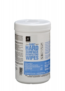 NABC Hard Surface Disinfecting Wipes - 125 Wipes 6/Case