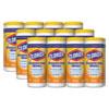 Disinfecting Wipes, 7 x 8, Crisp Lemon, 35/Canister, 12/Carton