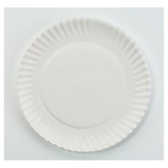 "White Paper Plates, 6"" dia, 100/Pack, 10 Packs/Carton"