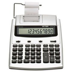 1210-3A Antimicrobial HT Printing Calculator, Black/Red Print, 2 Lines/Sec