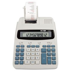 1228-2 Two-Color Roller Printing Calculator, Black/Red Print, 2.7 Lines/Sec