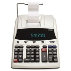 1230-4 Fluorescent Display Printing Calculator, Black/Red Print, 3 Lines/Sec