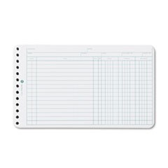 Extra Sheets for Six-Ring Ledger Binder, 100/Pack