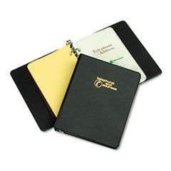 "Looseleaf Phone/Address Book, 1"" Capacity, 5-1/2 x 8-1/2, Black Vinyl"