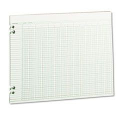 Accounting Sheets, 24 Columns, 11 x 14, 100 Loose Sheets/Pack, Green