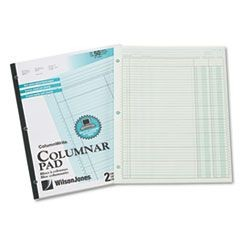 Accounting Pad, Two Eight-Unit Columns, 8-1/2 x 11, 50-Sheet Pad