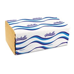 Embossed Singlefold Towels, 9 3/10 x 10 1/2, Natural, 250/Pack, 16 Packs/Carton
