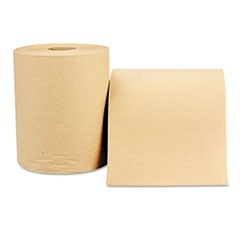 Nonperforated Paper Towel Roll, 8 x 600ft, Natural, 12 Rolls/Carton