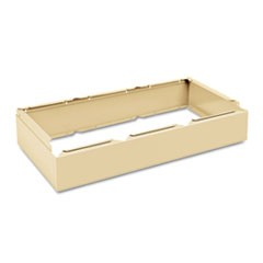 Three Wide Closed Locker Base, 36w x 18d x 6h, Sand