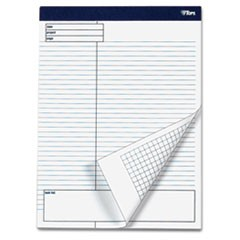 Docket Gold Planning Pad, Legal/Wide, 8 1/2 x 11 3/4, White, 40 Sheets, 4/Pack