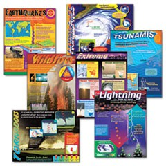 Learning Chart Combo Pack, Weather Extremes, 17w x 22h, 7/Pack