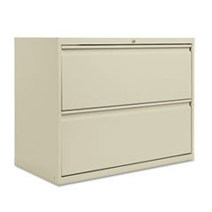 Two-Drawer Lateral File Cabinet, 36w x 18d x 28 3/8h, Putty
