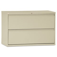 Two-Drawer Lateral File Cabinet, 42w x 18d x 28 3/8h, Putty