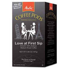 Coffee Pods, Love at First Sip (Medium Roast), 18 Pods/Box