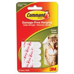 Poster Strips, White, 12/Pack