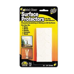 "Scratch Guard Surface Protectors, 3/4"" dia, Circular, Clear, 20/Pack"