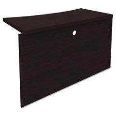 Mira Series Wood Veneer Bridge, 48w x 24d x 29�h, Espresso
