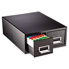 "Drawer Card Cabinet Holds 3,000 5 x 8 cards, 18 2/5"" x 16"" x 7 1/4"""