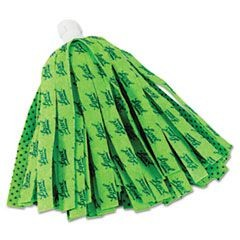 "Self Wringing Mop Head Refill, 11"", Green"